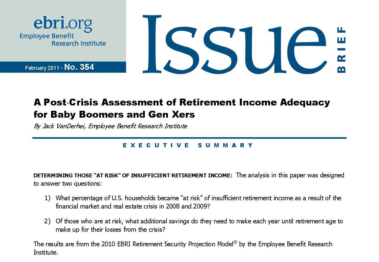 a report paper on social security crisis The growth in the social security disability rolls: a fiscal crisis unfolding david autor and mark duggan nber working paper no 12436 august 2006.