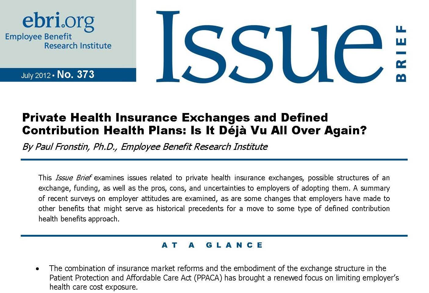 Some Of Possible Changes To Affordable >> Health Exchanges Ebri Org
